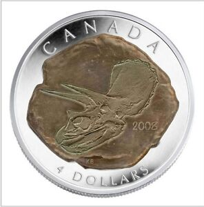 Monnaie Canada 2008 4 dollars MRC Argent/Silver Triceratrops