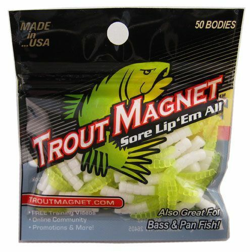 Leland Trout Magnet - Choose Color - 50pc pack (50 bodies) - Updated Monthly