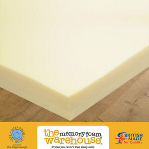 "Memory Foam Mattress Topper – Ideal for Caravans & Motor Homes 75"" x 28"" x 2in"