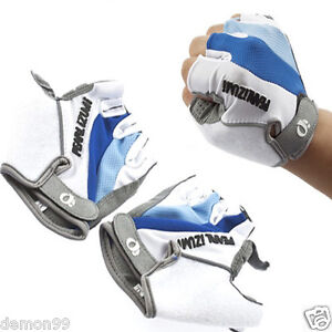 1pair-Cycling-Bike-Bicycle-silica-gel-Silicone-half-finger-Breathable-Glove-Blue