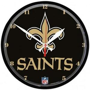 New Orleans Saints Deluxe Quartz Wall Clock (New)