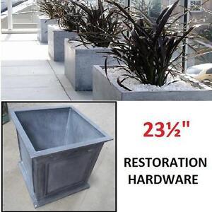 "NEW* RH ZINC FRAMED PANEL PLANTER - 107892549 - Large: 23½"" sq., 23½""H; 53.2 lbs. - HOME/GARDEN - RESTORATION HARDWARE"