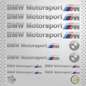 sticker bmw motorsport adhesive vinyl silver decal. Black Bedroom Furniture Sets. Home Design Ideas