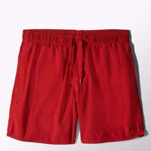 Adidas Mens Solid Swim Shorts - Red (Size M) (BNWT)