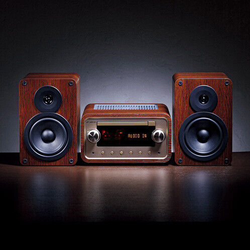 SANSUI Bluetooth tube hybrid CD stereo system SMC-300BT NEW FREE