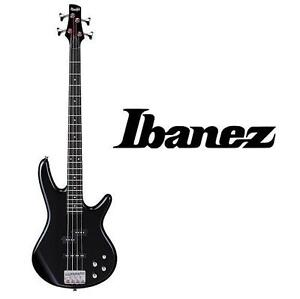 NEW IBANEZ ELECTRIC BASS GUITAR BLACK FINISH - MUSIC INSTRUMENT BASS GUITARS STRINGS 101750377