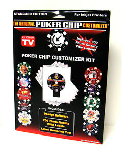 Poker Chip Customizer Personalize Chips Custom Labels