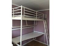 IKEA loft bed Svaerta with desk