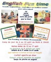 ENGLISH FUN TIME CAMP DE JOUR ANGLAIS