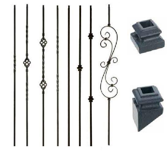 Satin Black Wrought Iron Balusters
