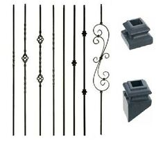 Iron Balusters Iron Spindles Metal Stair Parts Hollow Satin Black