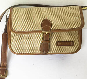 ACCESS Shoulder Purse Weave and Leather..