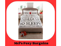 Mine and Yours Duvet Set- New