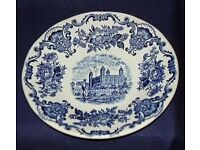 VINTAGE ENOCH WEDGWOOD TUNSTALL ROYAL HOMES OF BRITAIN TOWER OF LONDON SAUCER