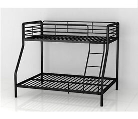Double Bunk Bed Single Top Metal Frame