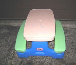 Used Little Tikes Easy Store Picnic Table. For 1-5 years old