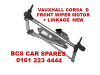 VAUXHALL CORSA D FRONT WIPER LINKAGE + MOTOR NEW 2007 - 2010