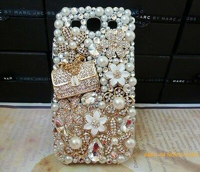 NEW 3D Alloy Luxury Gold Bag Flower crystal bling for Samsung galaxy Note 3 on Rummage