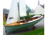 Albacore sailing dinghy good condition ready to sail 2 suits of sails, steel and wood keel