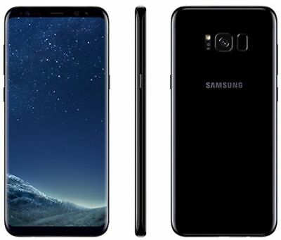 NEW Samsung Galaxy S8 PLUS SM-G955U 64GB BLACK  UNLOCKED AT&T VERIZON TMOBILE