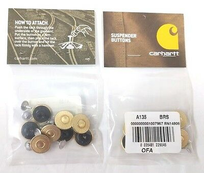 Carhartt Replacement Suspender Buttons 8Pc Per Pkg  Ca 1 135   Free Ship In Us