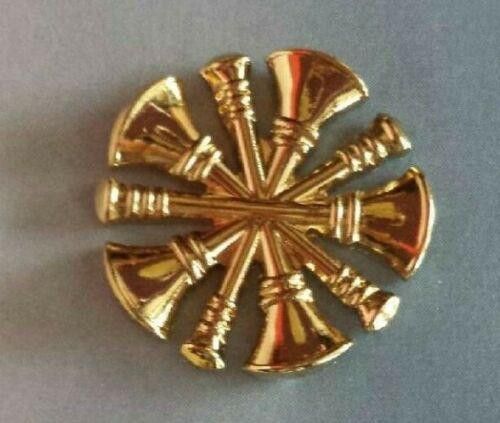 Firefighter DEPUTY CHIEF 5 Bugles cutout collar brass GOLD