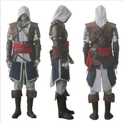 Assassins Creed IV Cosplay Set 4 Black Flag Edward Kenway Halloween Gray Costume - Edward Kenway Cosplay