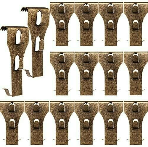 16 Pk Metal Brick Fastener Clips for Hanging Outdoor Wall Pictures Wreath Lights