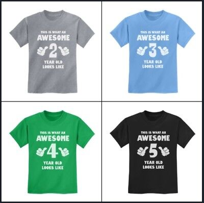 This Is What an Awesome Year Old Looks Like - Funny Kids T-Shirt Birthday Gift