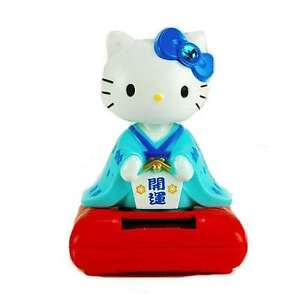 Solar-Toy-Blue-Geisha-Girl-Hello-Kitty-Sanrio-Japanese-Chinese-Cat-Kitty-4-25