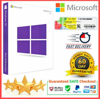 Window$ 10 Pro Key 32-64 Bit Genuine Activation 🛑 LIFETIME 🛑 INSTANT 🛑