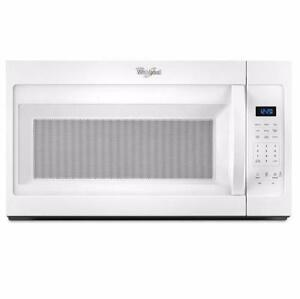 30'' Over-the-Range Whirlpool Microwave, white