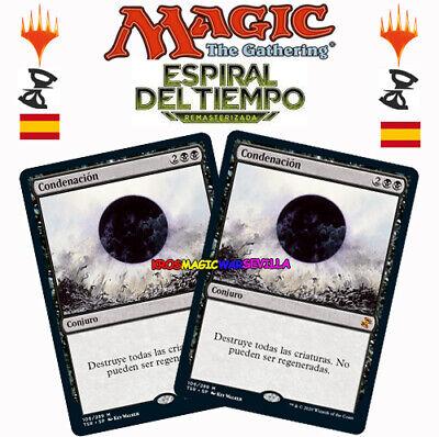 MTG 2 X Condenación ESPAÑOL ESPIRAL DEL TIEMPO RE - Damnation NM