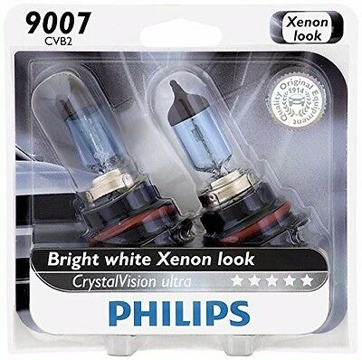 (Philips 9007 Upgrade Crystal Ultra Vision HB5 Halogen Light Bulb 65W/55W Germany)