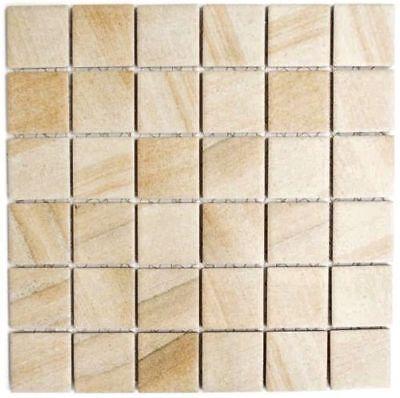 Keramikmosaik Steinoptik sandbeige Boden Dusche Spiegel Art:WB16-AISO98|1 Matte