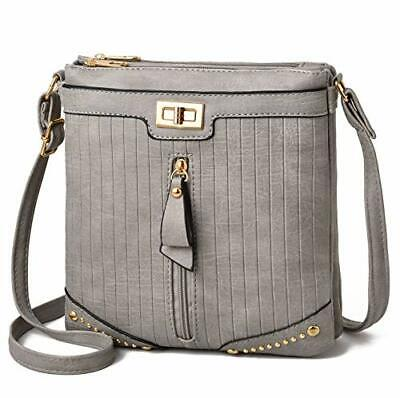 Crossbody Purses and Handbags for Women-Premium Crossover Bag Over the (Grey)