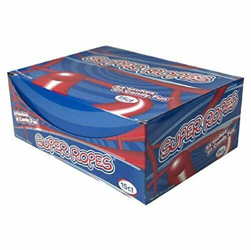 """Super Ropes 34"""" Individually Wrapped Rope 2oz Red Licorice Candy Rope (15 Pack)"""