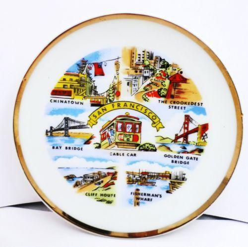 San Francisco Souvenir Plate Ebay