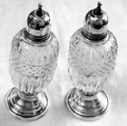 Sheffield Sterling Silver Antique US Sterling Silver Salt & Pepper Shakers