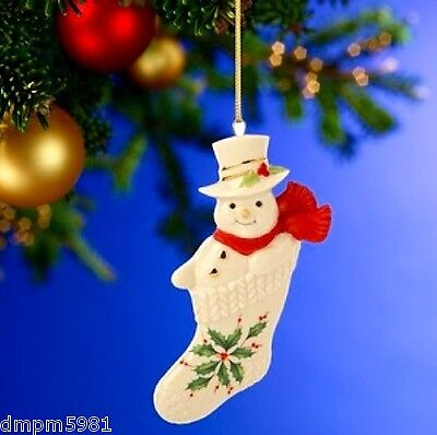 Lenox Holiday Stocking Stuffer Snowman Ornament NEW IN BOX