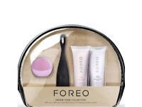 Foreo Dream Team & Skin Oral Care Gift Set Facial Pore Cleanser Brush BNWT
