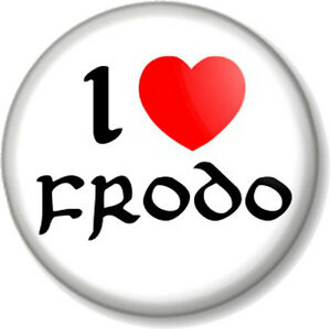 I-Love-Heart-FRODO-25mm-Pin-Button-Badge-The-Hobbit-Lord-Of-Rings-JRR-Tolkein