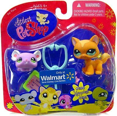 Littlest Pet Shop Exclusive Happiest Pet Pairs Figures Orange Kitty and Lavender