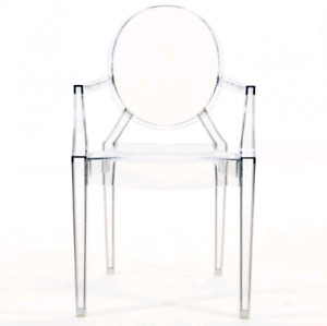 Kids ghost chair with arm in clear