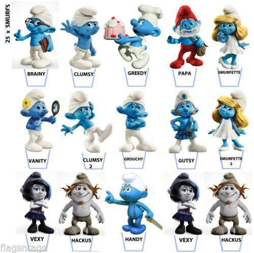 Smurf Cake Toppers Uk