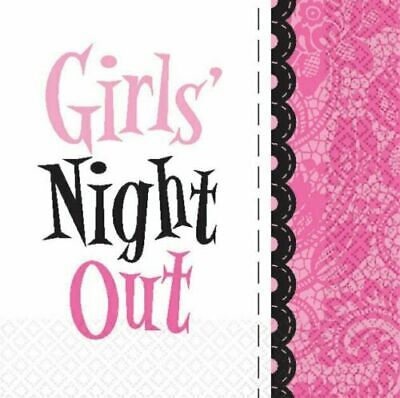 Girls Night Out Party Supplies Beverage Napkins 16ct. Lacy