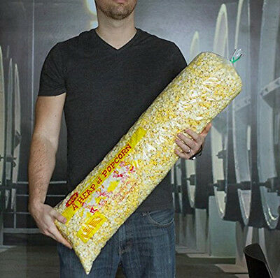 A Heap Of Popcorn  30  Long Pop Corn Bags   Pack Of 100 Plastic Carnival Style