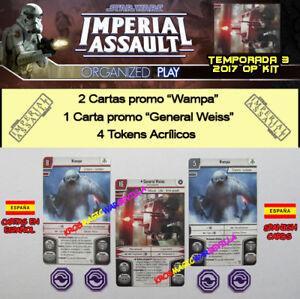 STAR-WARS-IMPERIAL-ASSAULT-2017-T3-OP-KIT-ESPANOL-General-Weiss-Wampa-Tokens