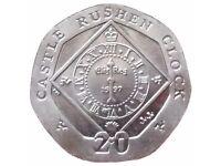 Rare Collectible 20p Coin - Castle Rushden Clock (2010)