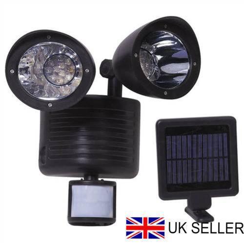 solar powered led security light ebay. Black Bedroom Furniture Sets. Home Design Ideas
